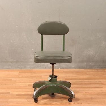 Industrial Tanker Rolling Desk Chair