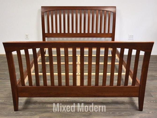 Ethan Allen Solid Cherry Queen Bed by mixedmodern1