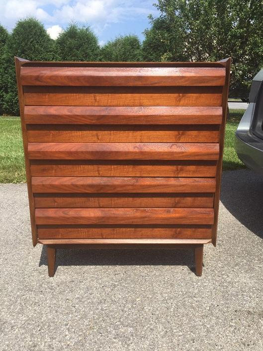 Lane First Edition series Tall Boy Dresser by MadModWorldVintage