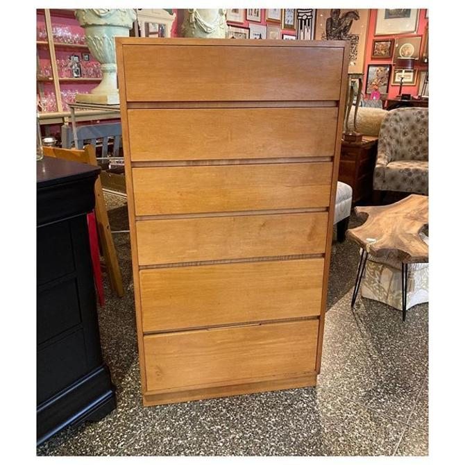 """Tall maple chest with 6 drawers 27"""" wide / 18"""" deep / 50.8"""" tall"""
