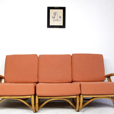 Vintage rattan sectional sofa by Ficks Reed Co.   Free delivery in NYC and Hudson ares by OmasaProjects