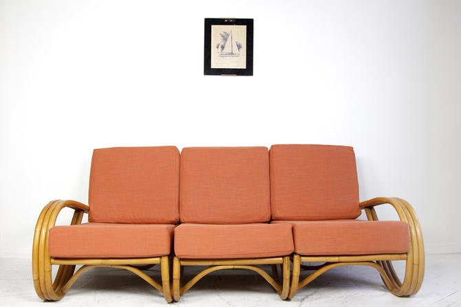 Vintage rattan sectional sofa by Ficks Reed Co. | Free delivery in NYC and Hudson ares by OmasaProjects