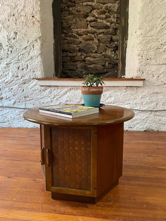 Mid century end table Lane hexagonal side table mid century accent table by VintaDelphia
