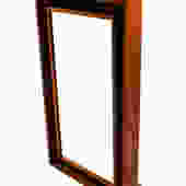 Modern Denmark Danish Teak Lighted Mirror By Pedersen & Hansen by Marykaysfurniture