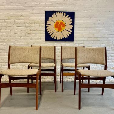 DANISH Mid Century MODERN Teak DINING Chairs, Set/4 by CIRCA60