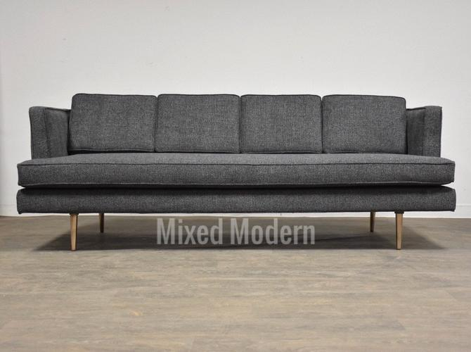 Edward Wormley for Dunbar Grey Sofa by mixedmodern1