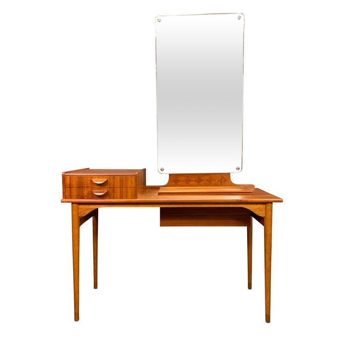 Vintage Danish Mid Century Modern Teak and Oak Vanity - Dressing Table by AymerickModern
