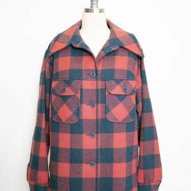 1970s PENDLETON Shirt Wool Plaid Women's S/ M by dejavintageboutique