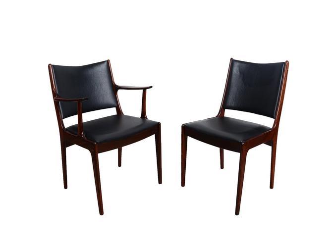 6 Rosewood Dining Chairs Johannes Andersen Uldum Mobler 7171 Danish Modern by HearthsideHome