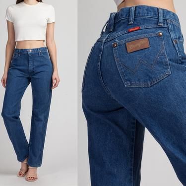 "Vintage Wrangler High Waisted Jeans - Medium, 30"" | 80s 90s Denim Straight Leg Mom Jeans by FlyingAppleVintage"