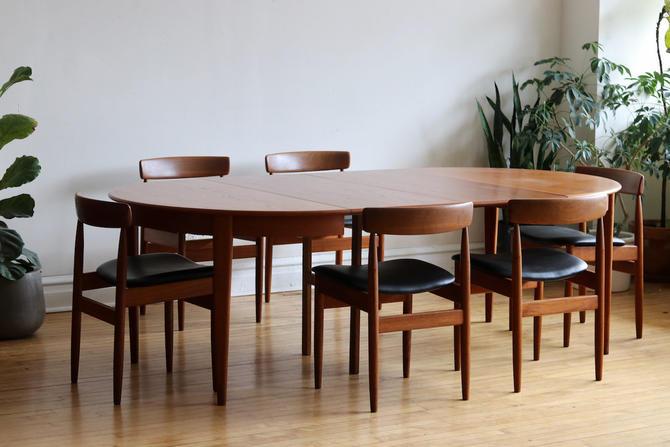 Mid Century Danish Modern Hans Olsen Dining Set by SharkGravy
