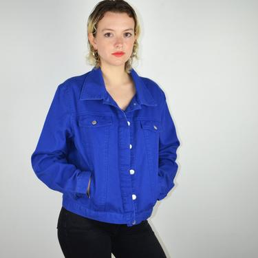 Vintage 90s Forenza Denim Jacket / Vintage Oversized Jean Jacket / 90s Blue Denim Jacket / 1990s Punk / 90s Vintage Denim Large Medium Small by ErraticStaticVintage