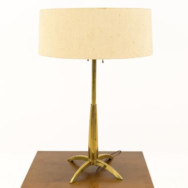 Gerald Thurston for Stiffel Mid Century Brass Rocket Table Lamp - mcm by ModernHill