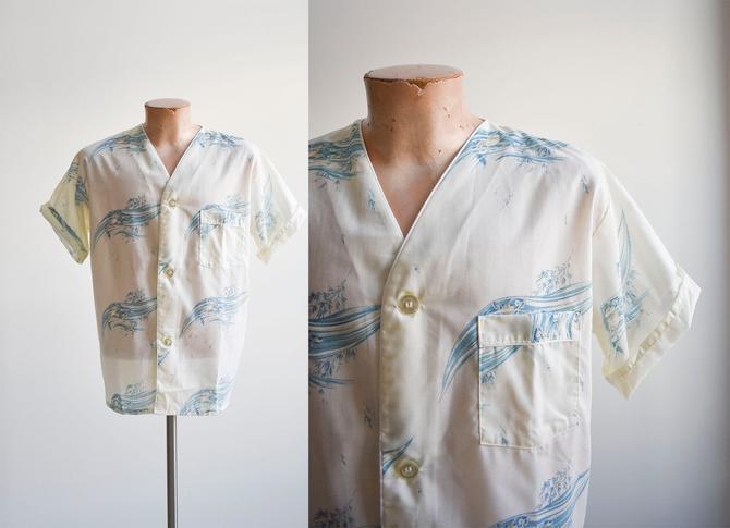 Vintage 1960s Koi Fish Pajama Shirt by milkandice