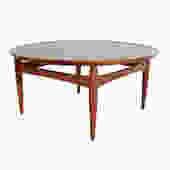 Flip-Top Danish Modern Round Teak Coffee Table Teak Tray Table Ejvind Johansson by HearthsideHome
