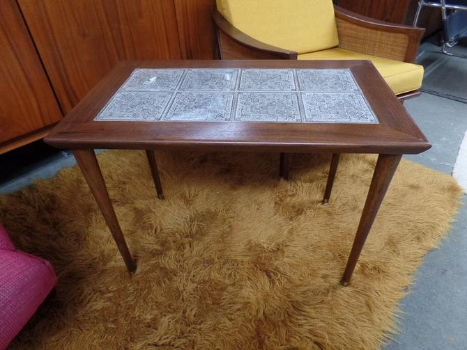 Mid-Century Modern tile top side table larger size