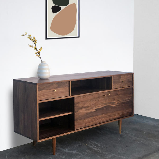 Walnut Credenza - Model 104 - Danish Modern Inspired - Custom for Lisa by STORnewyork