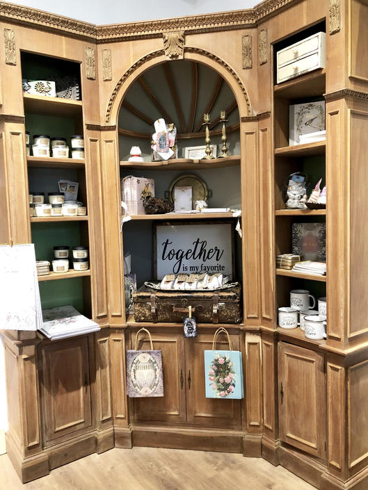 Antique Italian Corner Cupboard | Antique Cabinet | Corner Cabinet | China Cabinet | Shop Display | Corner Bookshelf | Three Piece Bookshelf by PiccadillyPrairie