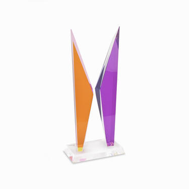 1999 Acrylicore Lucite Sculpture Acrylic Abstract Sculpture Mid Century Modern by VintageInquisitor