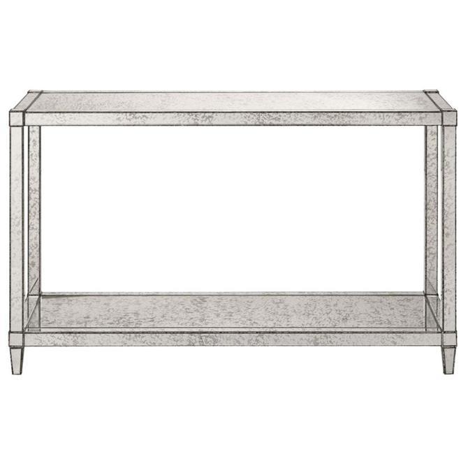 Currey & Co. Modern Antique Mirror Monarch Console Table