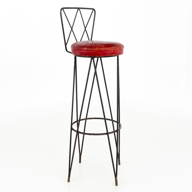 Frederick Weinberg Style Mid Century Hairpin Wrought Iron Bar Stool - 6 available by ModernHill