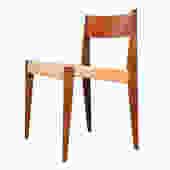 Danish Modern Cord & Teak Single Accent Chair