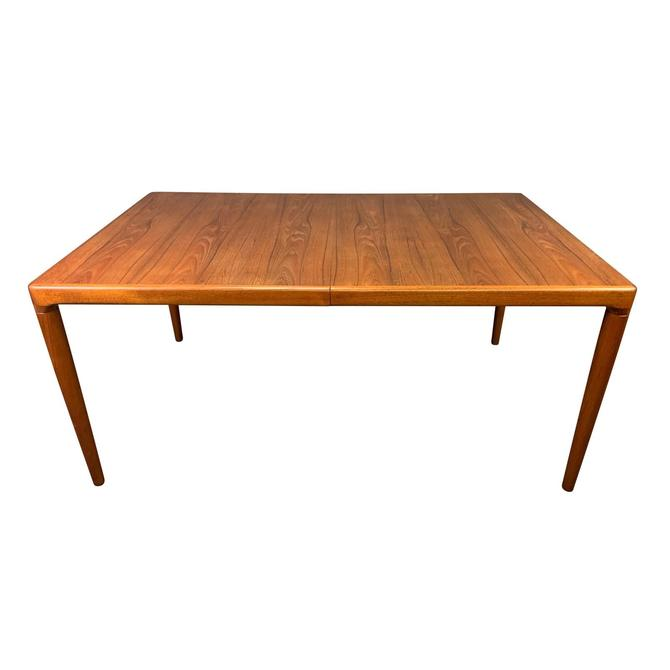 Vintage Danish Mid Century Modern Teak Dining Table With Leaves Attributed to HW Klein for Bramin by AymerickModern
