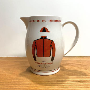 Vintage Royal Winton 1969 Washington DC International Horse Race Whisky Pitcher by OverTheYearsFinds