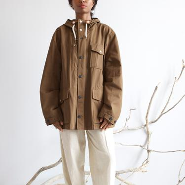 NOS brown hooded utility parka / S M L by EELT