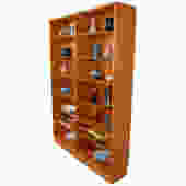 Danish Modern Hundevad Teak Adjustable Bookcase