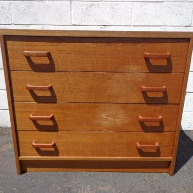 Mid Century Modern Dresser Chest of Drawers Nightstand Bedside Table Danish Teak TV Media Console Furniture Bar MCM Storage Eames Credenza by DejaVuDecors