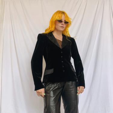 Black Velvet Tuxedo Blazer by TheMetalRomanticShop