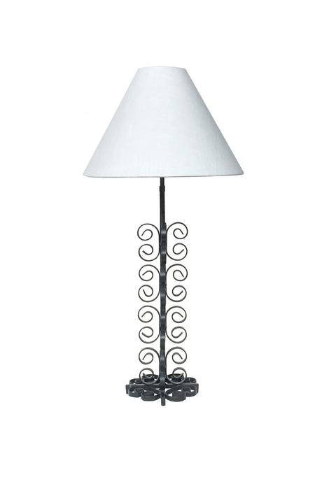 Mid-20th Century Wrought Iron Table Lamp in the Style of Paul Kiss
