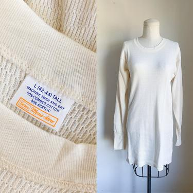 Vintage 1970s Thermal Top / men's L tall by MsTips
