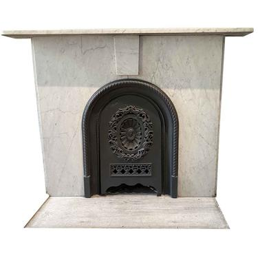 Simple NYC Townhouse Carrara Marble Mantel