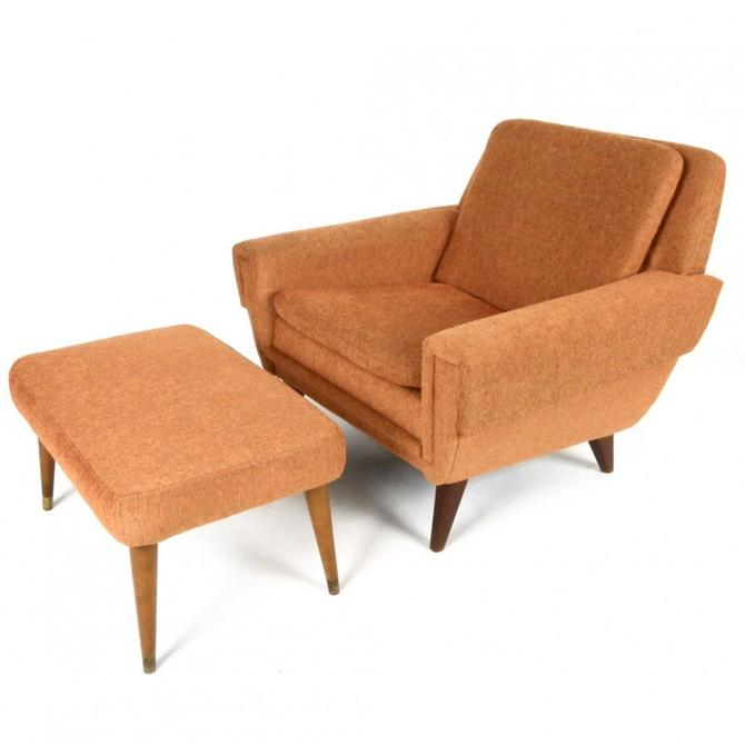 Folke Ohlsson Lounge Chair With Ottoman