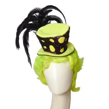 Mini Clown Top Hat & Wig
