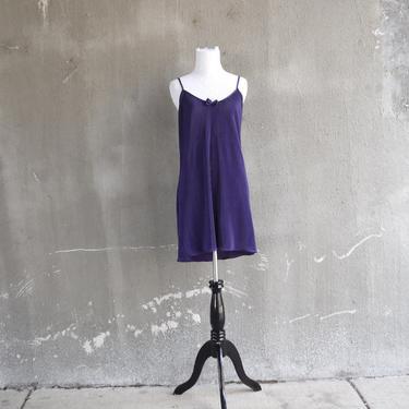 Vintage 80s Chemise | Purple Lingerie | Pleated Chemise | Vintage Lingerie | Sexy Lingerie | Medium Chemise M | Size 8 Chemise | Slip Dress by aphroditesvintage