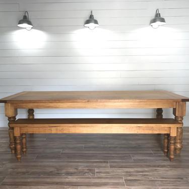 Modern Farmhouse Chunky Leg Dining Table by HickoryandHaze