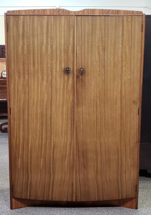 Item #S2059 Mid Century Teak Double Door Armoire c.1960