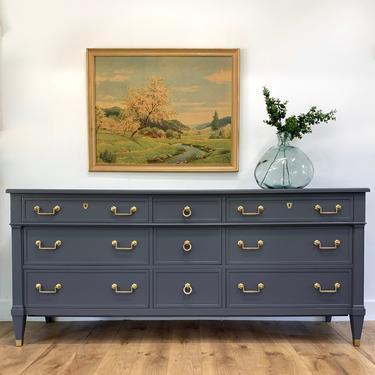 CUSTOMIZABLE FURNITURE- Gray Dresser is a sample by JulieSimpleRedesign