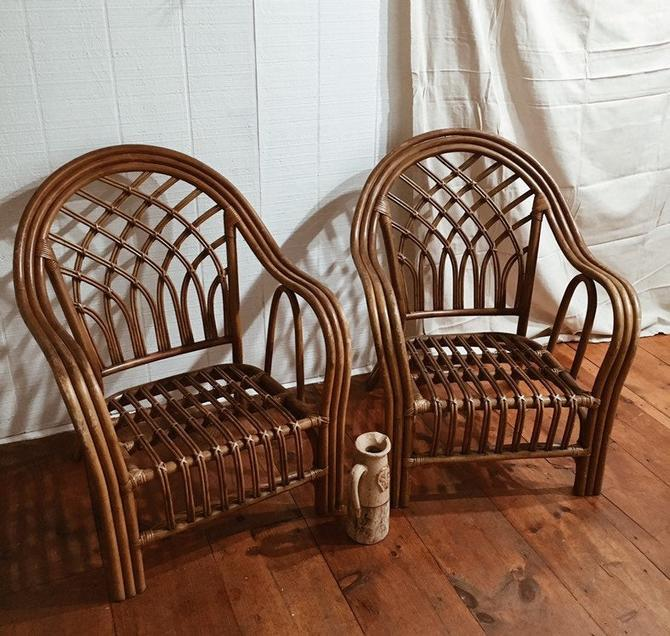 Pair Of Rattan Chairs Two Bamboo Chairs Vintage Rattan Set Wicker Chair Set Two Rattan Chairs Shipping Is Not Free By Vintageandswoon From Vintage Swoon Of New Bedford Ma Attic