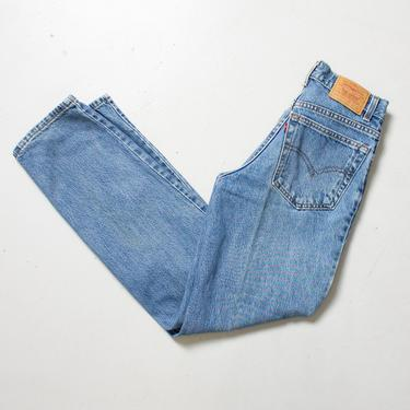 """Vintage Levi's 550 JEANS - Cotton Denim Straight Leg High Waist Student Fit Jeans 1980s - 28"""" x 32"""" by dejavintageboutique"""