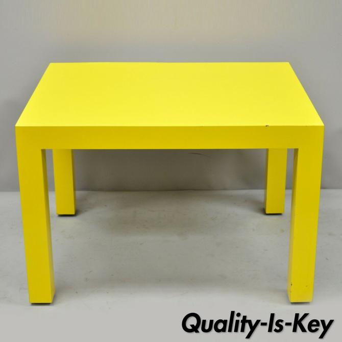 Thayer Coggin Milo Baughman Yellow Parsons Formica Laminate Occasional End Table
