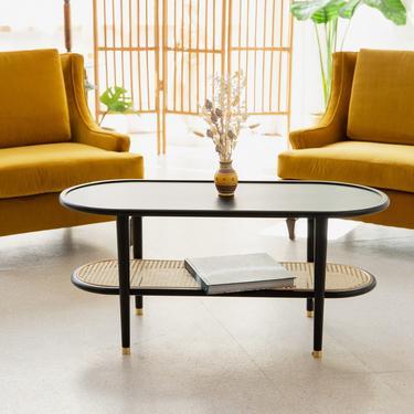 Emily Rattan Boho Oval Coffee Table