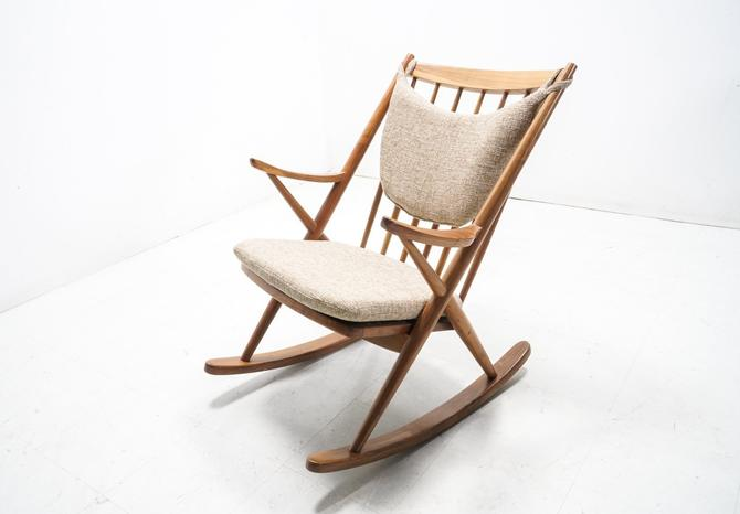 Danish Mid Century Modern Rocker by TDFurniture