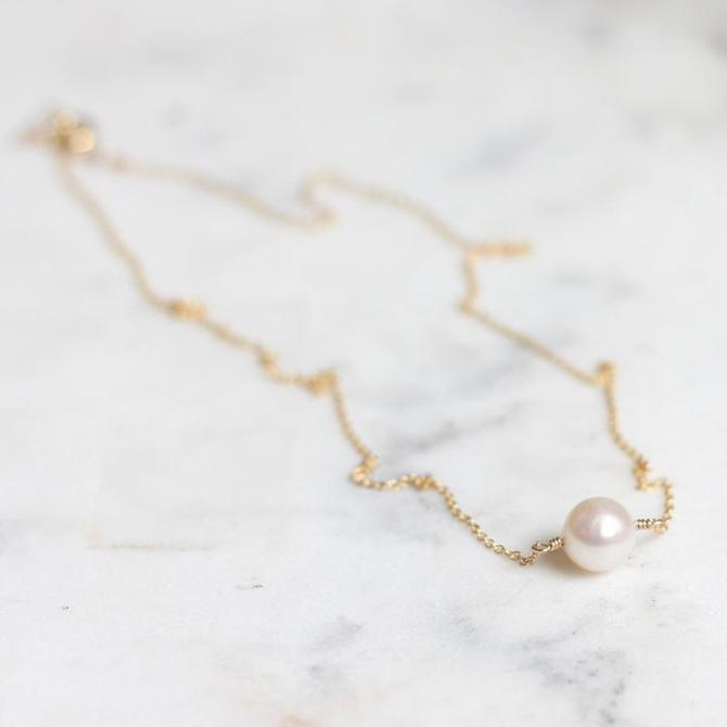 Charming Pearl Drop Necklace
