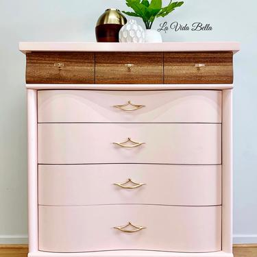 Beautiful Pink MCM Chest by LaVidaBellaDesign