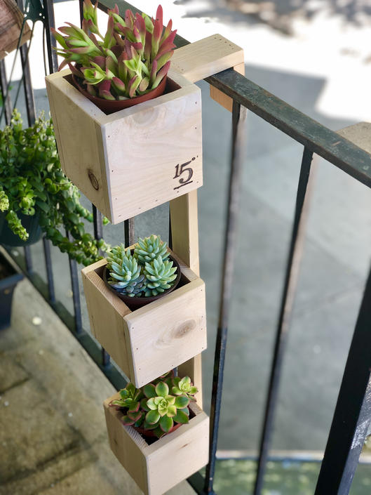 Tiered Balcony Planter Box by FifteenDegree