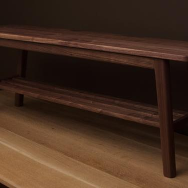 Mid Century Entryway Shoe Bench by BevelDownDesign